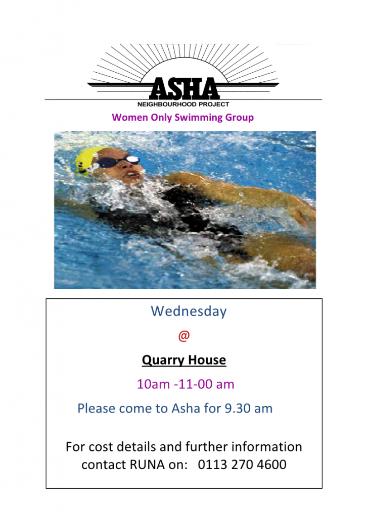 Beeston: Healthy eating, swimming and walking for women at Asha