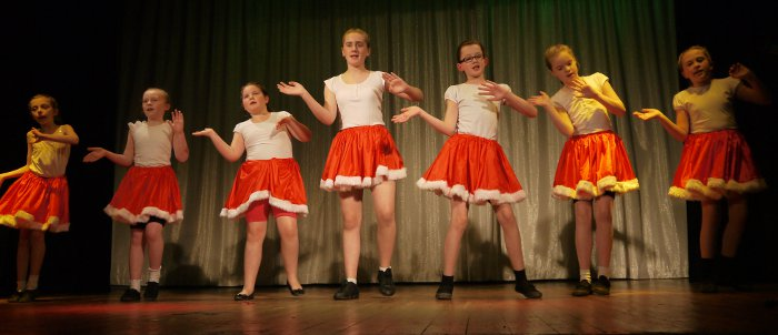 Hunslet Club Dancers at their Christmas Show in 2012