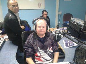 ken in recoding studio.