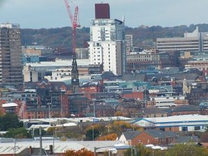 City scape View from Belle Isle of Leeds City (1)