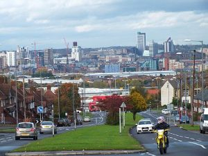 City scape View from Belle Isle of Leeds City (6)