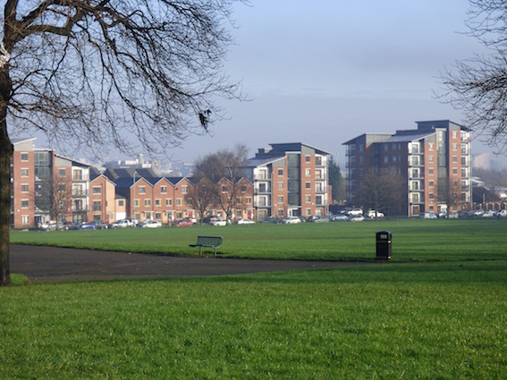 New council homes facing Holbeck Moor. Photo: Jeremy Morton