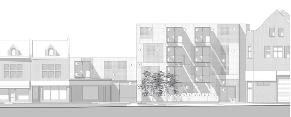 Proposed design for new flats on the Spotted Cow site