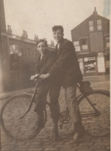 Harry (right) in Stourton, early 1930s
