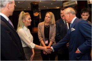 Kaitlyn meets HRH Prince Charles