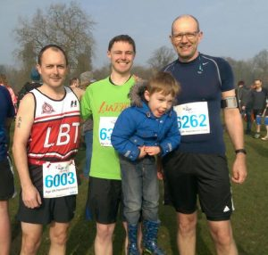 __, Ewan Mitchell and Jonathan Bliss at the Harewood Dash