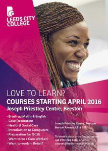 Joseph Priestley Centre courses