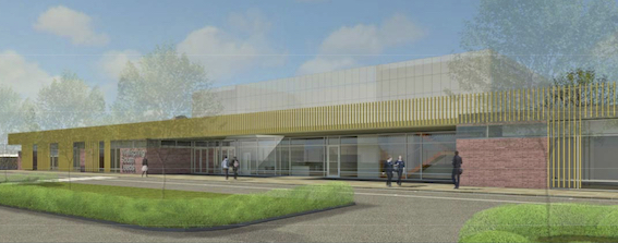 Artist's impression of the new school building