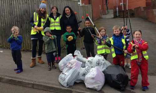 Helpers of all ages are welcome at this weekend's clear-up (image: Alistair Kaye)