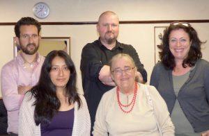 South Leeds Life committee members: Ed Carlisle, Rocio Torres, Bruce Davies, Pat Jackson & Lucy Potter