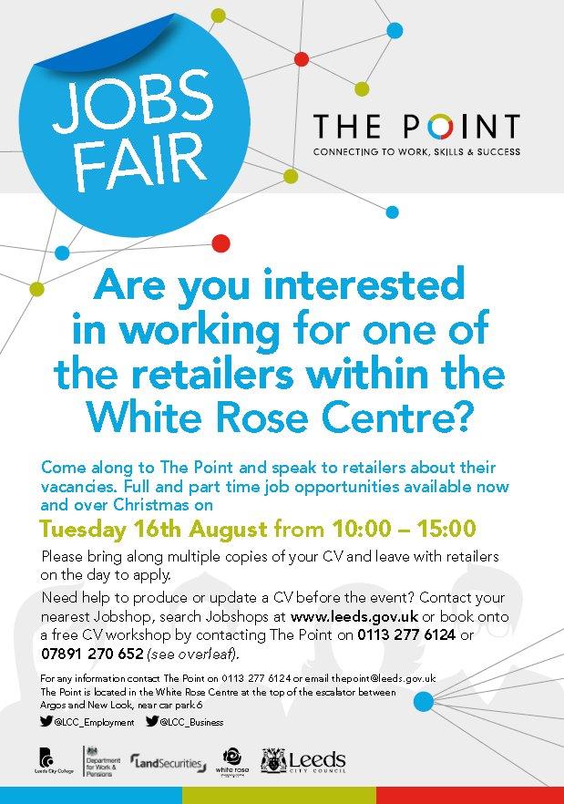 White Rose jobs fair 2016