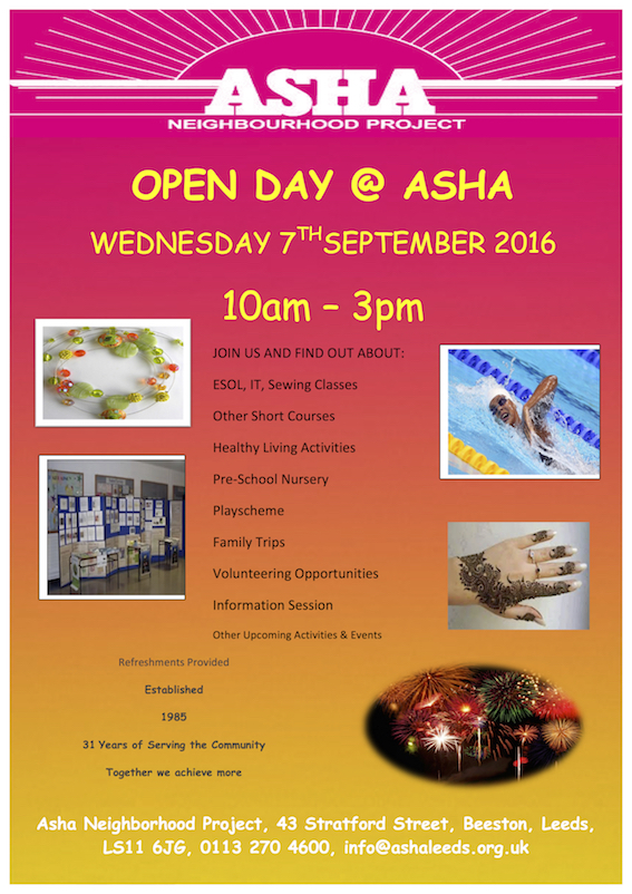 Asha Open Day Sep16