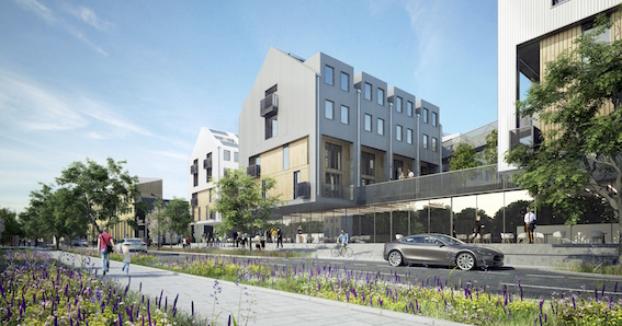 Artist's impression of new eco-housing on Clarence Road