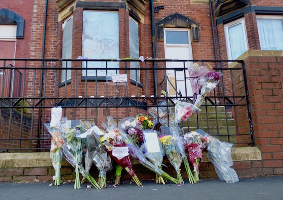Flowers outside the house on Tempest Road, Beeston