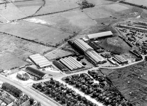 Aerial view of Westland Road, Beeston in 1960. Photo courtsey of Leeds Library & Information Services via Leodis.com