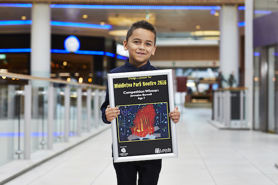 Poster competition winner Jermain Burwell