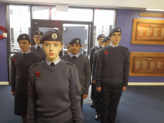 Davina Nattrass leads Cadets from Cockburn School