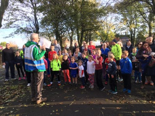 57 youngsters joined the first ever Cross Flatts junior parkrun (image: Rich Harrison)
