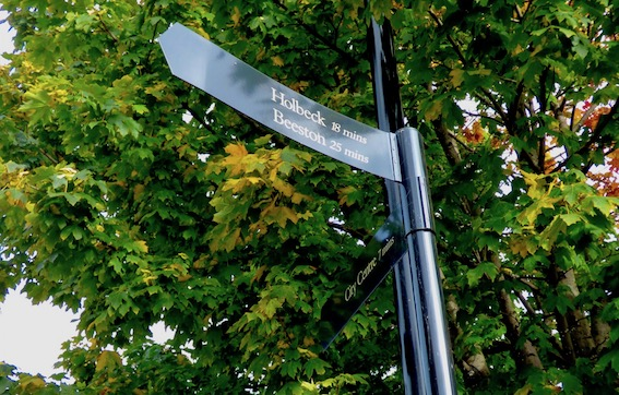 One of the original Holbeck in Bloom signposts