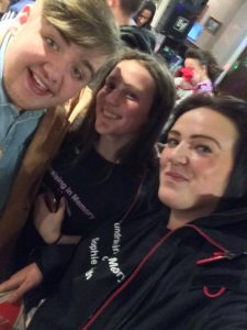 Leanne and Leoni with Tom Bleasby