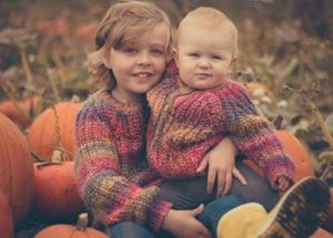 Zara Lundy with her sister Blythe