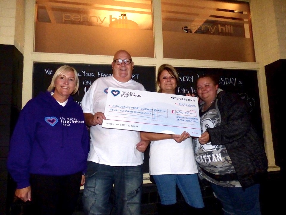 Penny hill raises hundreds of pounds south leeds life for Penny hill